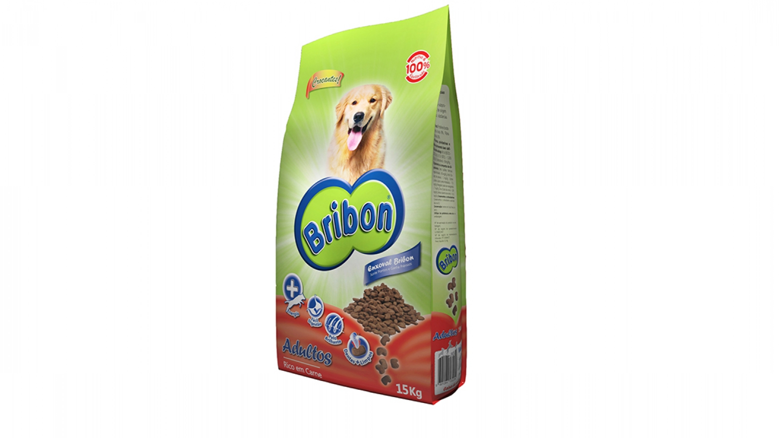 alimento bribon delicioso melhor ração seca cão adulto
